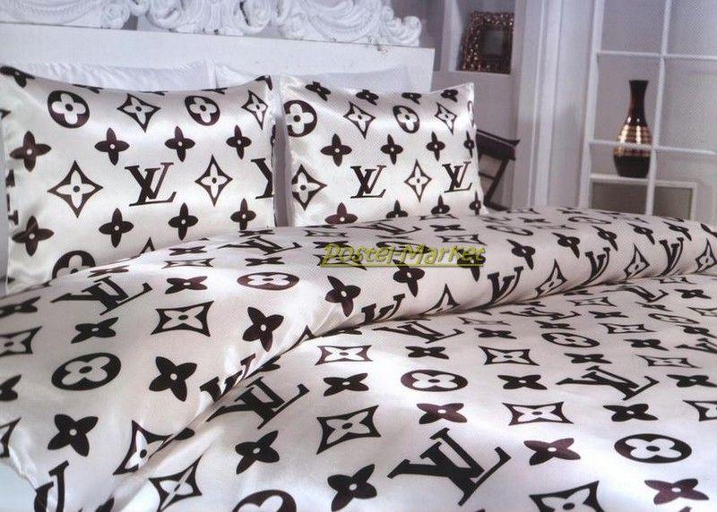 780fa62f568d Постельное белье атлас Louis Vuitton кремовый. Купить постельное ...