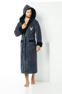 b8c9540e5f4c0 Мужские халаты. Купить махровый халат в магазине Постель-Маркет.