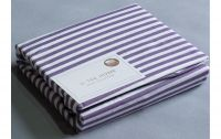 Простынь натяжная Cotton Stripe Plum 30 Hotel Collection