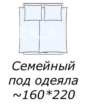 Семейное постельное белье с пододеяльником 160*220