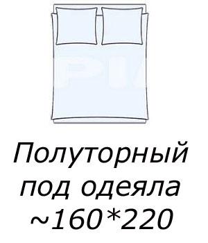 Полуторное постельное белье с пододеяльником 160*220